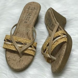 NEW Tuscany Woven Italian Wedge Sandals 8 Wide